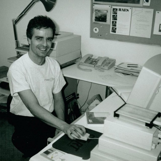 Its aarntfield in his very first office in 1991! throwbackthursday
