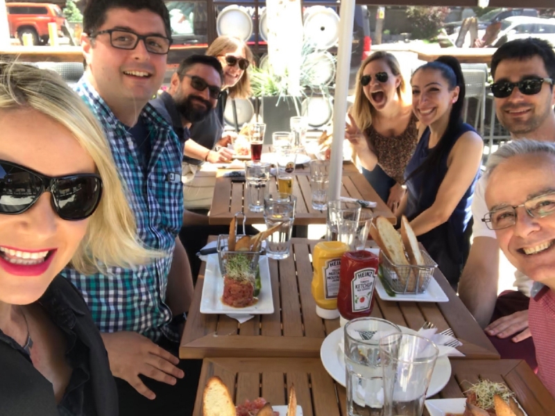 Team patio lunch